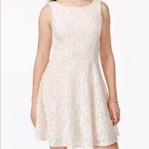 Speechless Blush Lace dress